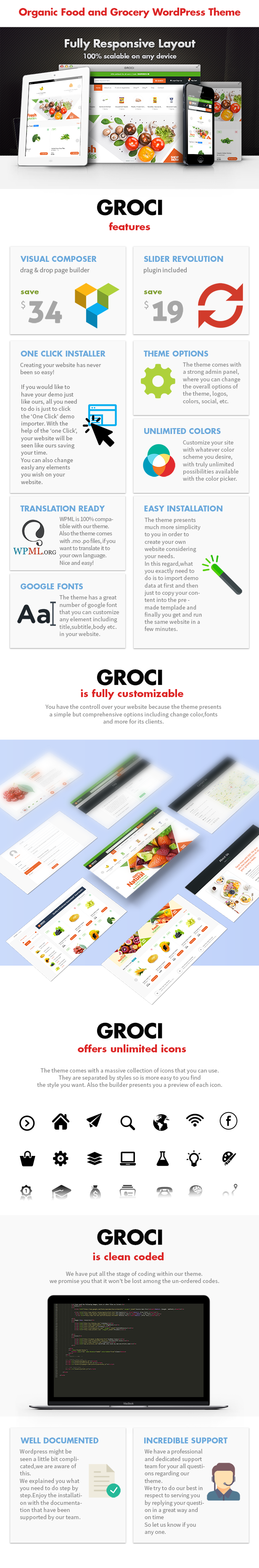 Groci - Organic Food and Grocery Market WordPress Theme - 3